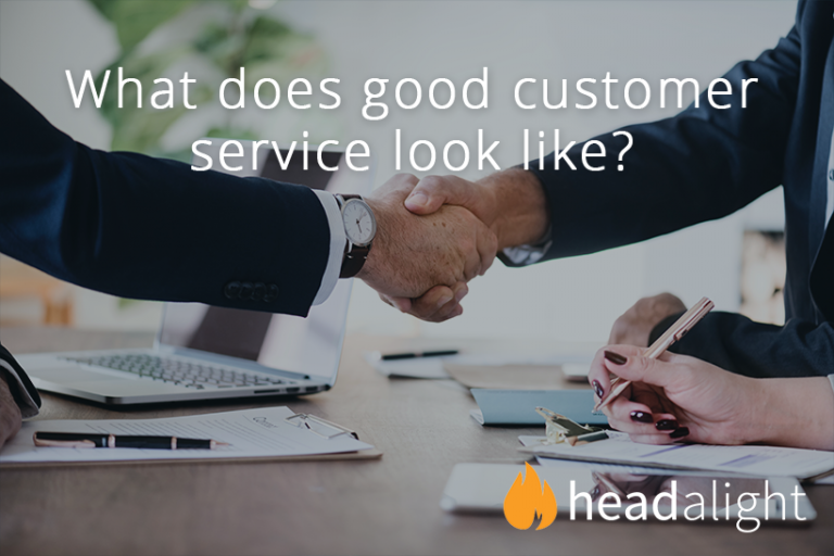 What does good customer service look like?